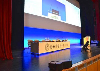 104 - Executive table - frontpanel on stage